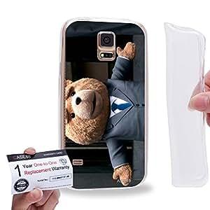Case88 [Samsung Galaxy S5] Gel TPU Carcasa/Funda & Tarjeta de garantía - 2015 Ted Teddy Bear 0924