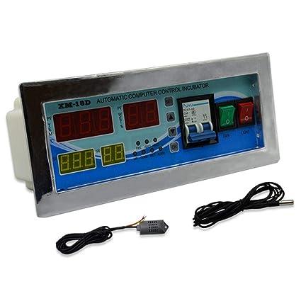 Termostato Digital Controlador Multifunción Incubadora Automática de Huevos de Aves Gallinas Patos, Sensor de Temperatura