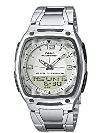 Casio AW-81D-7AVES Gents Watch Quartz Analogue White Dial Silver Steel Strap