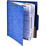 "Pack of 10 Classification Folders w/ 2 Dividers - 6 Sections File Folder w/ 2"" Expansion for Letter Size Paper 2 Prongs Pressboard Organizer for Law Client Files, Medical Files, Office Reports"