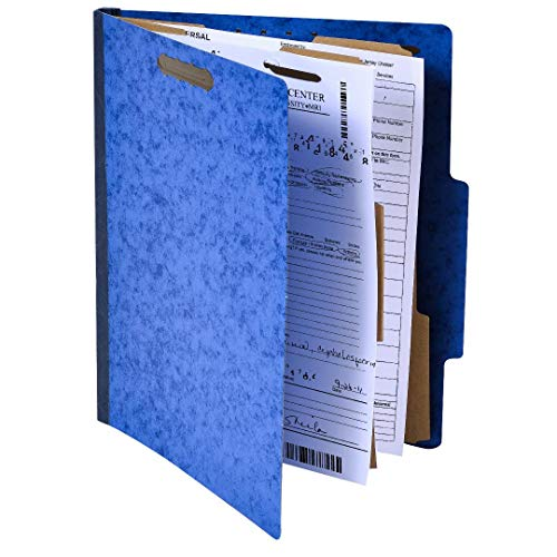 Pack of 10 Classification Folders w/ 2 Dividers - 6 Sections File Folder w/ 2