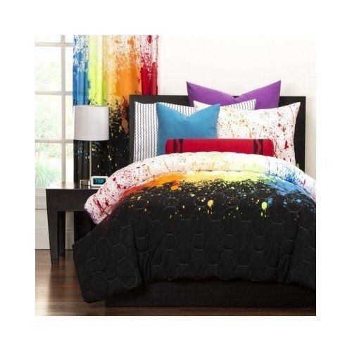 Reversible Teen Kids Crayola Colorful Cosmic Burst 3-piece Comforter Bedding Includes Custom Mouse Pad (Twin)