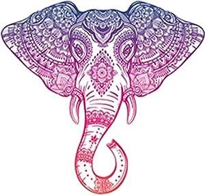 Amazon Com Divine Designs Purple Pink Ombre Henna Pattern Elephant Head Drawing Vinyl Decal Sticker 12 Wide Automotive
