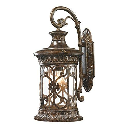 Alumbrada Collection Orlean 1 Light Outdoor Sconce In Hazelnut Bronze