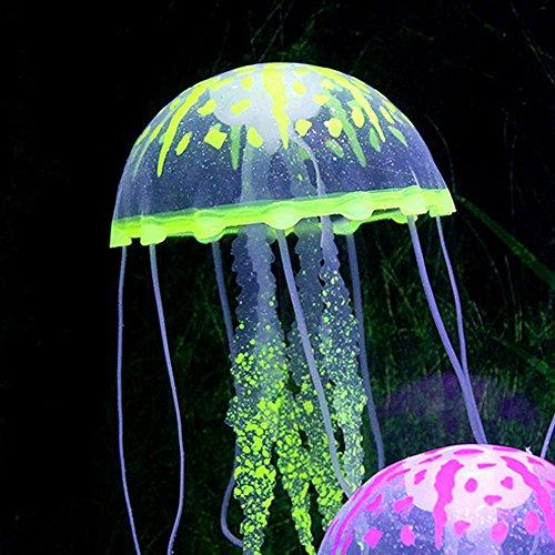 SENZEAL 6x Artificial Jellyfish Aquarium Fish Tank Línea de pesca decorativa color surtido