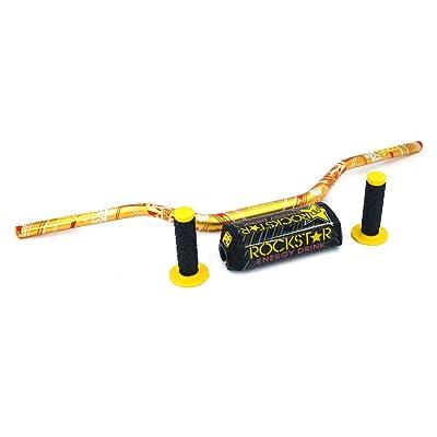 "JFG RACING Yellow Motorcycle 1 1/8"" 28mm Handlebar Fat Handle Bar Pad Grips Set For Dirt Bike Suzuki RM250 RMZ250 DRZ400 RMZ450: Automotive"