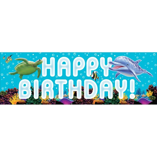(Creative Converting Ocean Party Giant Party Banner, 60-Inch)