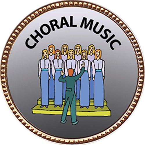 "Choral Music Award, 1 inch dia Gold Pin ""Music Arts Collection"" by Keepsake Awards"