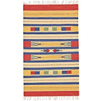 South western Hand Woven 3x5 / 90x150 cm Multicolor Dhurrie Area Rug Kilim, 100% Cotton, Style: 1978