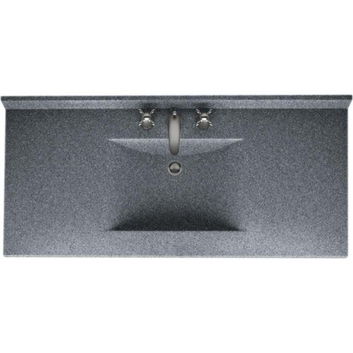 Swanstone 509447 Contour Solid Surface Single-Bowl Vanity Top, 49-in L X 22-in H X 6.25-in H, Night Sky