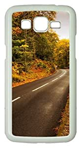 Samsung Galaxy Grand 2 Case - Autumn Highway PC Hard Case Cover For Samsung Galaxy Grand 2 / Samsung Galaxy 7106 - White