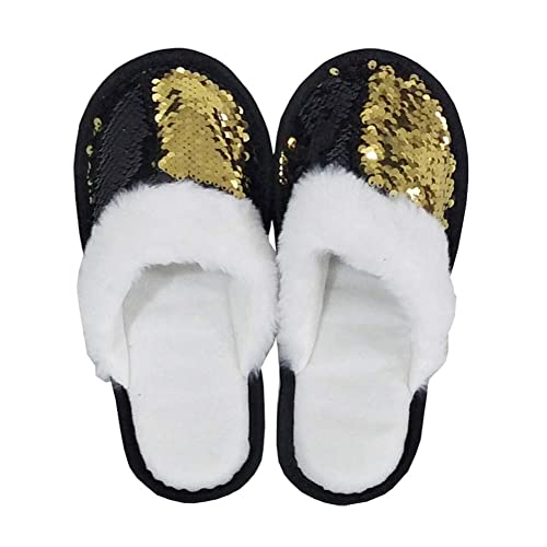 6f0d5d08fa5 FanRich Woman Fashion Two Color Reversible Sequin Slipper