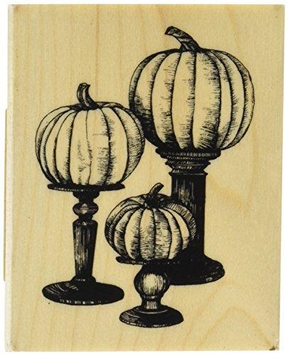 Inkadinkado Pumpkin - Inkadinkado 60-01293 Pedestal Pumpkin Wood Stamp_60-01293