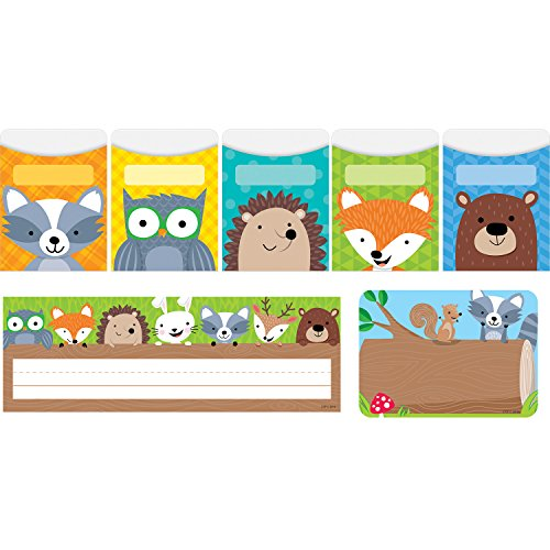 Creative Teaching Press CTP8938 Woodland Friends Name Plate/Label/Pockets Combo Set (Pack of 107)