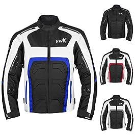 HWK Textile Motorcycle Jacket Motorbike Jacket Biker Riding Jacket Cordura Waterproof ce Armoured Breathable reissa…