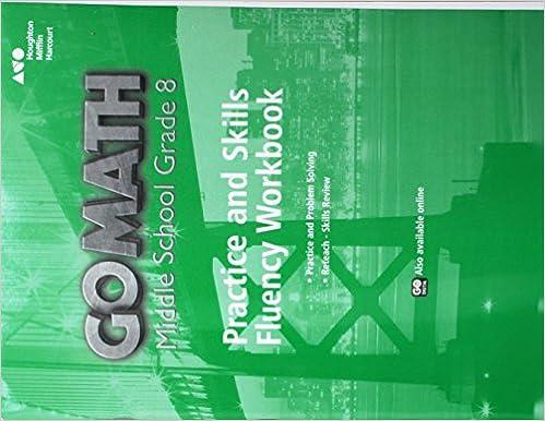 Go Math Practice Fluency Workbook Grade 8 HOUGHTON