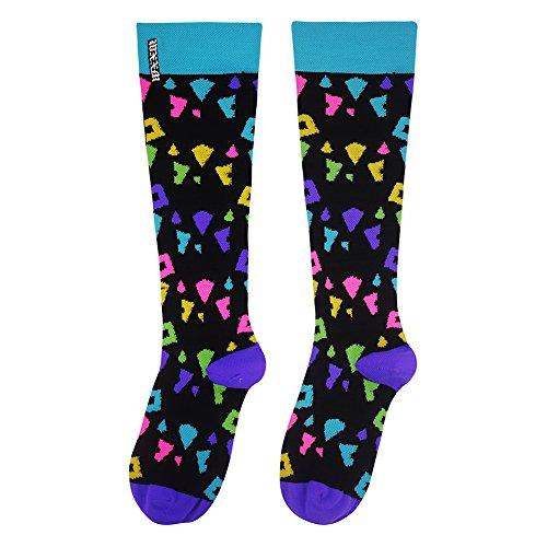 WXXM Compression Socks-Womens Athletic Running Socks Moderate (15-20mmHg) Graduated Football Socks