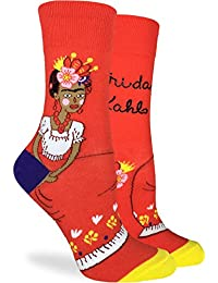 Good Luck Sock Women's Frida Kahlo Socks - Orange, Adult Shoe size 5-9
