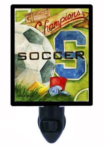 Sports Night Light - Vintage Soccer by Night Light Designs