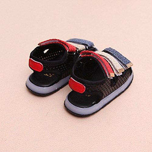 LED Sandale Schuhe Jungen Mädchen Kleinkind Strand Schuhe Schwarz
