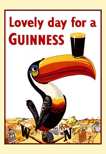 - Guinness Poster, Lovely Day for a Guinness, Tucan, Weather Vane