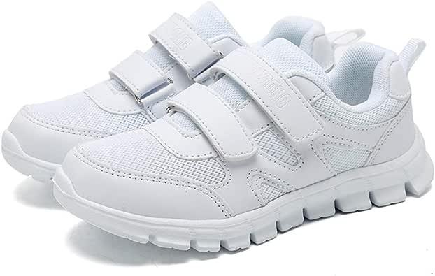 Etillo Zapatillas de Correr para niños y niñas para Deportes al Aire Libre, Zapatos de Escuela, Zapatos de Tenis, Color Blanco para niños y niñas (niño pequeño/niño Grande), Color, Talla 33 EU: