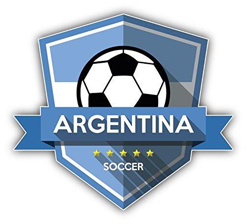 Argentina Flag National Soccer Team Badge Vinyl Decal Bumper Sticker 5'' X 5''