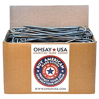 100 Pro Galvanized Garden Stakes - Landscape Staples - Made in USA - Sold by Vets - American Steel Sod Staples