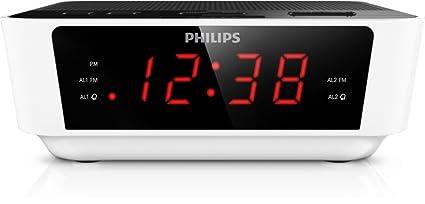 Philips AJ3116W/37 - Radio (Reloj, FM, 0,2 W,