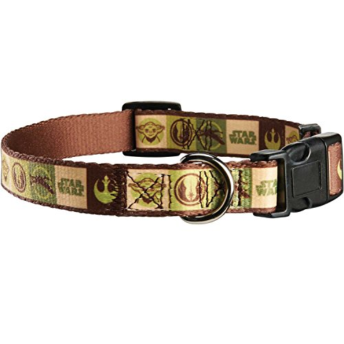 STAR WARS Yoda Adjustable Dog Collar, For Necks 8-13 Inches