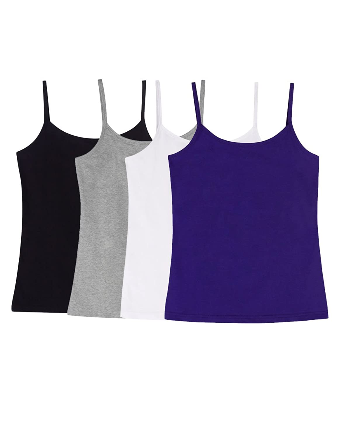 ADAMARIS Cotton Camisoles for Women Tank Tops for Women Pack Camis Vest White Red