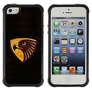 Suave TPU GEL Carcasa Funda Silicona Blando Estuche Caso de protección (para) Apple Iphone 5 / 5S / CECELL Phone case / / Black Brown Gold Eagle /