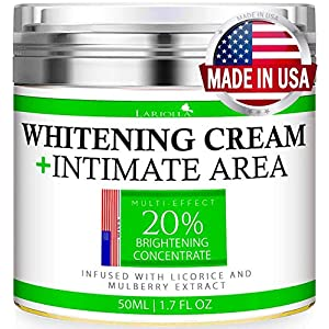 Whitening Cream – Advanced Skin Bleaching Cream for Face – Body – Intimate Areas – Underarm Whitening Cream – Private Parts – Made in USA – Melasma & Hyperpigmentation Treatment – 50 ML