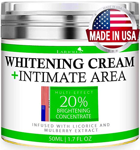 Whitening Cream - Advanced Skin Bleaching Cream for Face - Body - Intimate Areas - Underarm Whitening Cream - Private Parts - Made in USA - Melasma & Hyperpigmentation Treatment - 50 ML