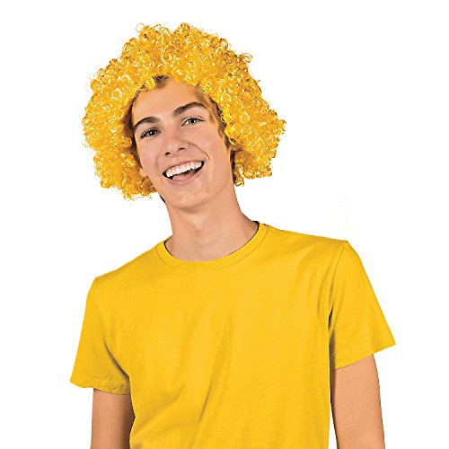 (Yellow Team Spirit Afro Wig)