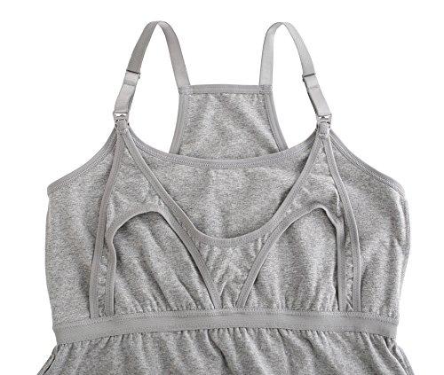 l'allattamento Gravidanza Camicia da ZUMIY per Seno Allattamento al Sleep Bra per Top Black 2pk grey Allattamento wvqETI4