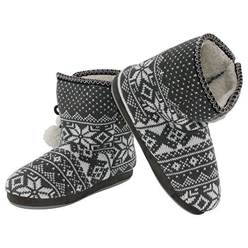 brandsseller - Zapatillas de estar por casa de Material Sintético para mujer gris
