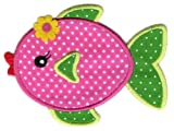 PatchMommy Iron On Applique Patch, Girl Fish - Kids Baby