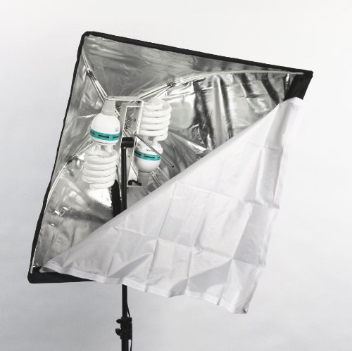 ALZO 200 CFL Economy Softbox Video Light daylight - Very Bright Very Light weight softbox - Perfect for inverviews and Green Screen by ALZO Digital