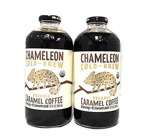 Chameleon Organic Cold Brew Coffee Concentrated Caramel, 32 oz   2 Packs