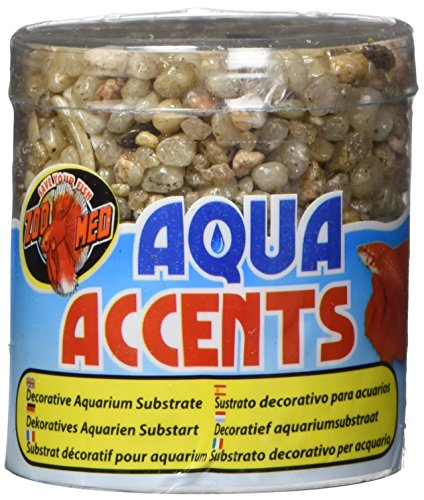 Zoo Med Laboratories Accents - Zoo Med Laboratories AZMBA2 Light River Pebbles, 1/2-Pound