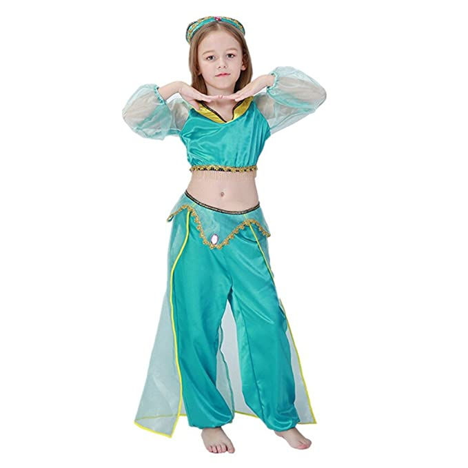 Disfraz de Princesa Arabe Para Niñas Cosplay Halloween Carnaval Disfraz de  bailarina  Amazon.es  Ropa y accesorios e9eb7905726