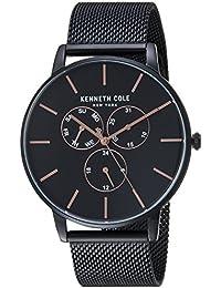 Men's Quartz Stainless Steel Casual Watch, Color:Black (Model: KC50008005)