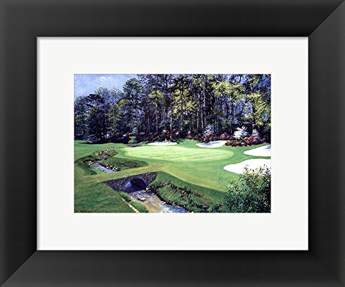 The 13th At Augusta-Azalea by Bernard Willington Framed Art Print Wall Picture, Black Frame, 12 x 10 inches