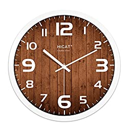 Bedroom quartz clock,European style [creative] Large mute wall clock Arabic Metal-D 12inch