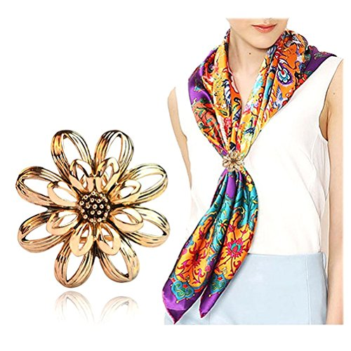 Tinksky Women Scarf Ring Golden
