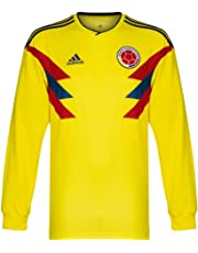 adidas 2018-2019 Colombia Home Long Sleeve Football Soccer T-Shirt Camiseta