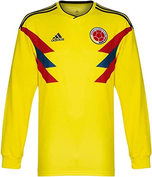 adidas 2018-2019 Colombia Home Long Sleeve Football Soccer T-Shirt Camiseta: Amazon.es: Deportes y aire libre