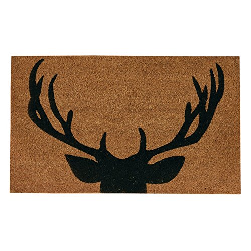 Park Design 38 Inches x 19 Inches Natural Coir Fibers Antlers - Deer Furniture Antler