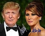 Donald Trump and Melania Trump Autographed Preprint